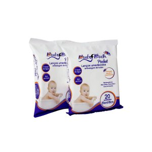 Lenços Umedecidos Pocket 2 Pacotes - Baby Bath
