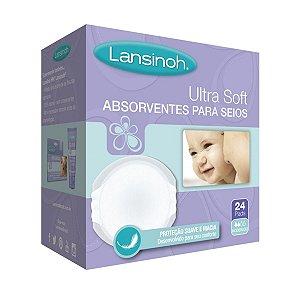 Absorventes Descartáveis Para Seios Ultra Soft C/ 24 Unidades - Lansinoh