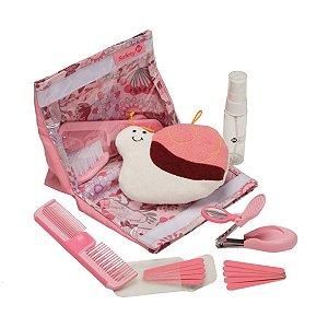 Kit de Higiene e Beleza Infantil 18 Peças Rosa - Safety 1st