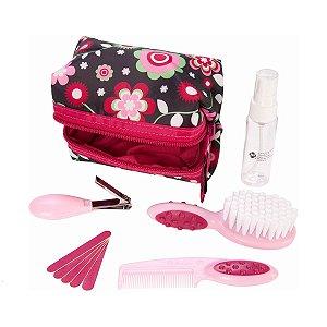 Kit Higiene e Beleza Infantil 10 Peças Rosa Fashion - Safety 1st
