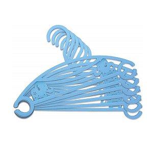 Cabide infantil Elefantinho Azul 6 Unidades - Clingo