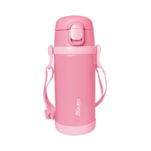 Garrafa Térmica Premium Infantil Rosa 350ml - Clingo