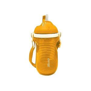 Copo Isotérmico com Canudo Amarelo 220ml - Clingo