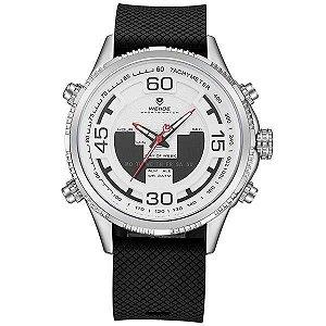 Relógio Masculino Weide AnaDigi WH-6306 - Preto e Branco