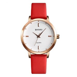 Relógio Feminino Skmei Analógico 1457 - Vermelho e Rosê