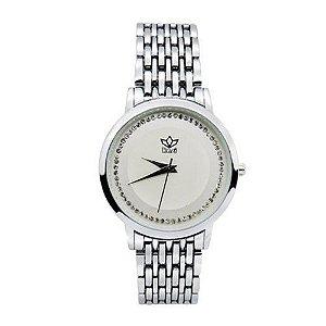 Relógio Feminino Kasi/Fmero Analógico Casual 8107 Prata