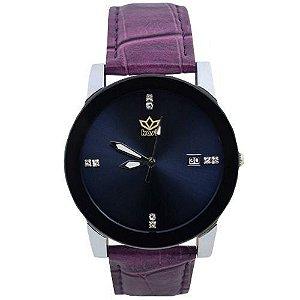 Relógio Unissex Kasi/Fmero Analógico Casual Y006 Roxo