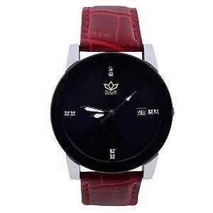 Relógio Feminino Kasi/Fmero Analógico Casual Y006 Vermelho
