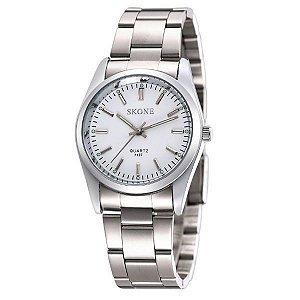 Relógio Feminino Skone Analógico 7127 Branco