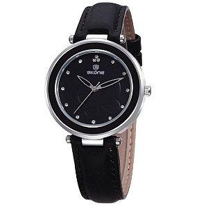 Relógio Feminino Skone Analógico 9294 Preto