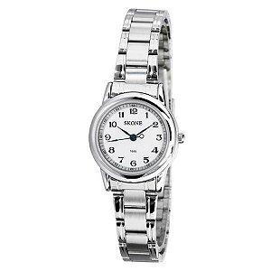 Relógio Feminino Skone Analógico Casual 7055 Branco
