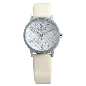 Relógio Feminino Skone Analógico Casual Branco 9239