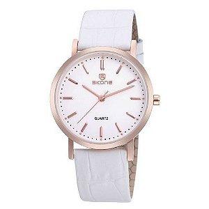 Relógio Feminino Skone Analógico Casual 9310G Branco