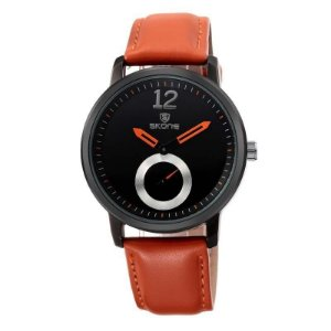 Relógio Feminino Skone Analógico Casual 9240-1G Laranja