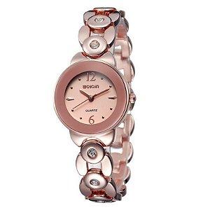 Relógio Feminino Skone Analógico Casual W4763 Bronze