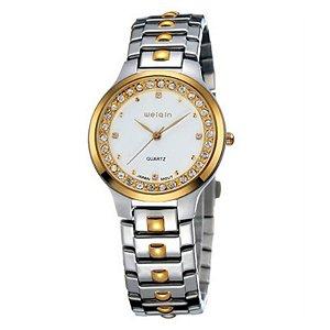 Relógio Feminino Skone Analógico Casual W4147G Dourado