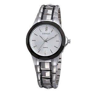 Relógio Feminino Skone Analógico Casual W0099 Prata