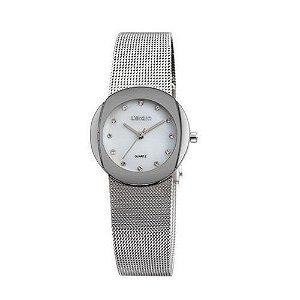 Relógio Feminino Skone Analógico Casual W4590-3 Prata