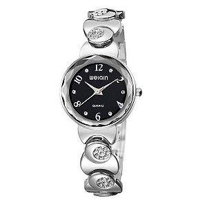 Relógio Feminino Skone Analógico Casual W4763-3 Preto