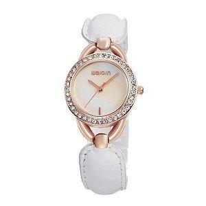 Relógio Feminino Weiqin Analógico W4385 Dourado