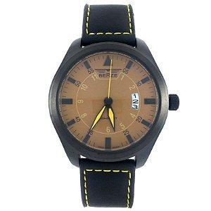 Relógio Masculino Analógico Social Berze BT161 Preto e Marrom