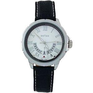 Relógio Masculino Analógico Social Berze BT164 Preto e  Branco