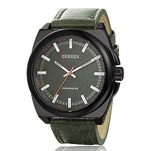 Relógio Curren Analógico 8168 Verde e Preto