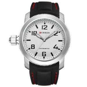 Relógio Curren Analógico 8173 Preto - Prata
