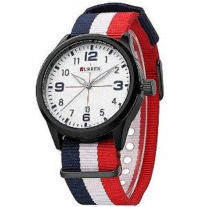 Relógio Curren Analógico 8195 Preto - Branco
