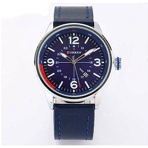 Relógio Masculino Curren Analógico 8215 Azul