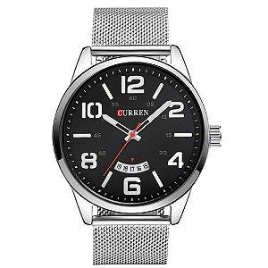 Relógio Masculino Curren Analógico 8236 - Prata e Preto