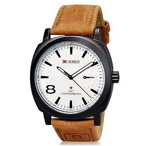 Relógio Masculino Curren Analógico Casual 8139 Branco
