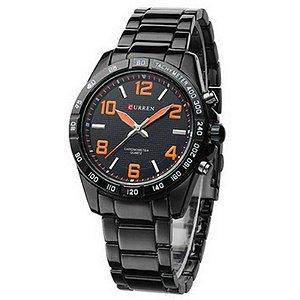Relógio Masculino Curren Analógico Casual 8107 Laranja