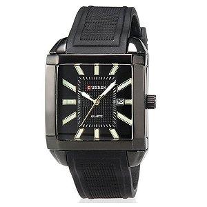 Relógio Masculino Curren Analógico Casual 8145 Preto