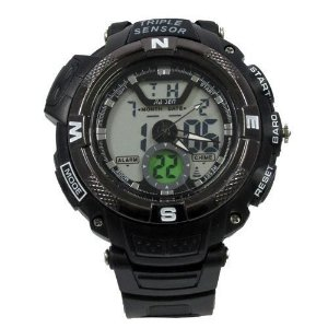 Relógio Masculino Jia Sen AnaDigi Esporte 8935 Preto