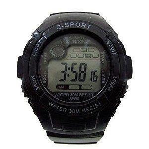 Relógio Masculino Jia Sen AnaDigi Esporte 902 Preto