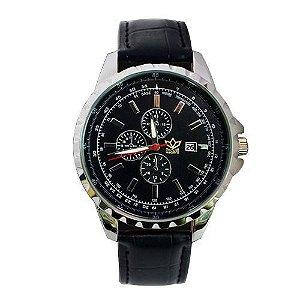 Relógio Masculino Kasi/Fmero Analógico Casual Y005 Preto