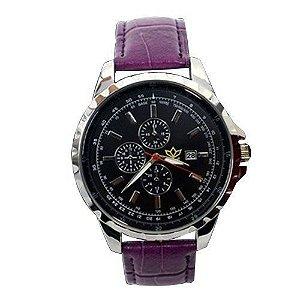 Relógio Masculino Kasi/Fmero Analógico Casual Y005 Roxo