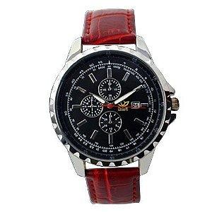Relógio Masculino Kasi/Fmero Analógico Casual Y005 Vermelho