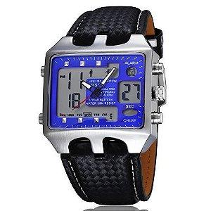 Relógio Masculino Ohsen AnaDigi Casual AD0930 Azul