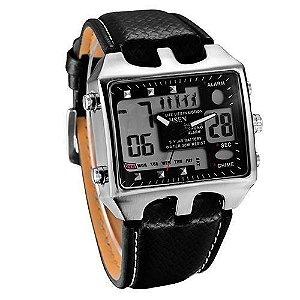 Relógio Masculino Ohsen AnaDigi Casual AD0930 Preto