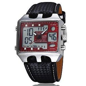 Relógio Masculino Ohsen AnaDigi Casual AD0930 Vermelho