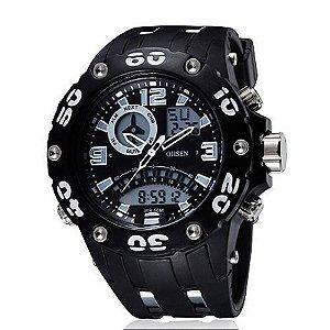 Relógio Masculino Ohsen AnaDigi Esporte  AD2801 Branco