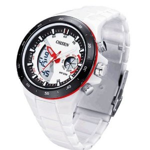 Relógio Masculino Ohsen AnaDigi Esporte AD2802 Branco