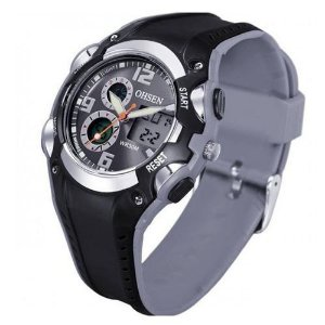 Relógio Masculino Ohsen AnaDigi Esporte AD1309 Cinza