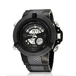 Relógio Masculino Ohsen AnaDigi Esporte AD2811 Cinza