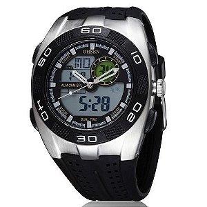 Relógio Masculino Ohsen AnaDigi Esporte AD0828 Prata