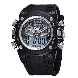 Relógio Masculino Ohsen AnaDigi Esporte AD0721 Preto
