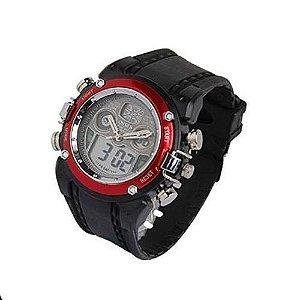 Relógio Masculino Ohsen AnaDigi Esporte AD0721 Vermelho