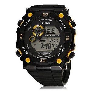Relógio Masculino Ohsen AnaDigi Esporte 2810 Amarelo